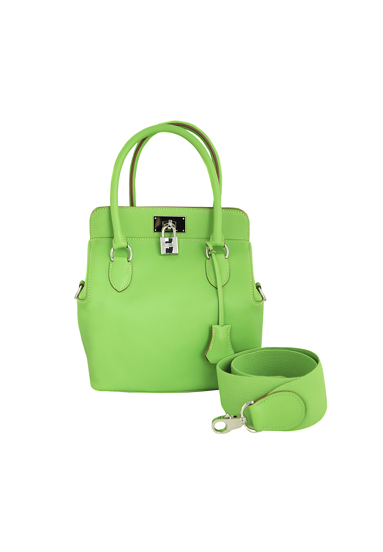 4ee0ac9be89a ... Ярко-зелёная сумка Hermès Toolbox Swift 20 ...