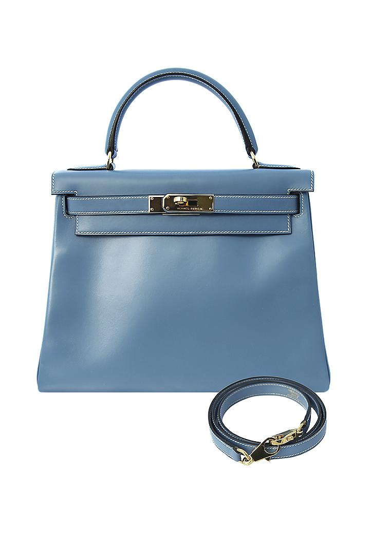 ab7cf2363900 Винтажная лазурная сумка Hermès Kelly 28 - магазин