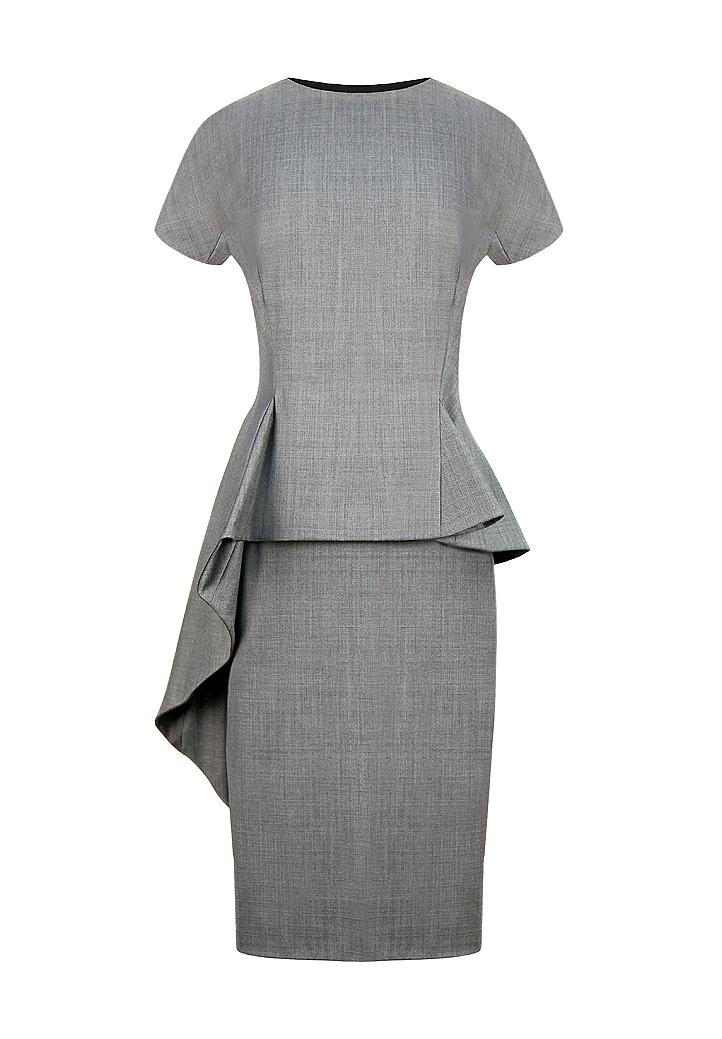 Асимметричное серое платье Christian Dior - магазин