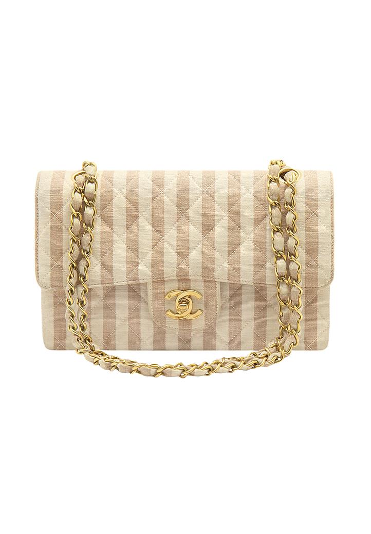 Винтажная полосатая сумка Chanel - магазин