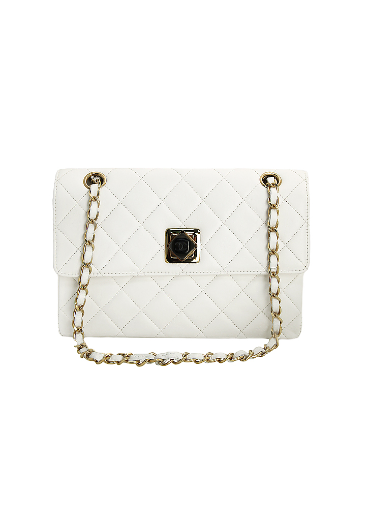 Классическая белая сумка Chanel - магазин