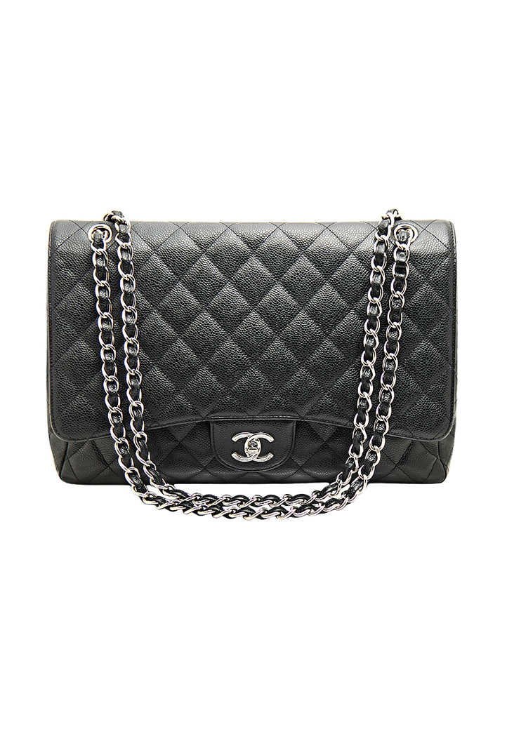 Черная сумка Chanel Jumbo в коже Caviar - магазин