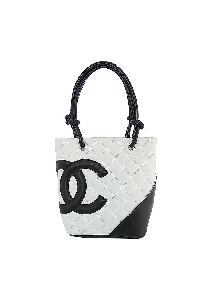 Кожаная сумка-корзинка Chanel с логотипом - магазин