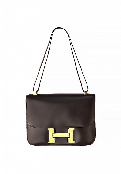 dcd2e4340a0b из избранного В корзину Шоколадная сумка Hermès Constance 23 Франция,  1980-е 249 000 