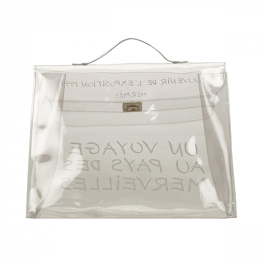 f18f5335a191 Винтажная прозрачная сумка Kelly Hermes - магазин